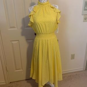 Yellow Polka Dotted Dress